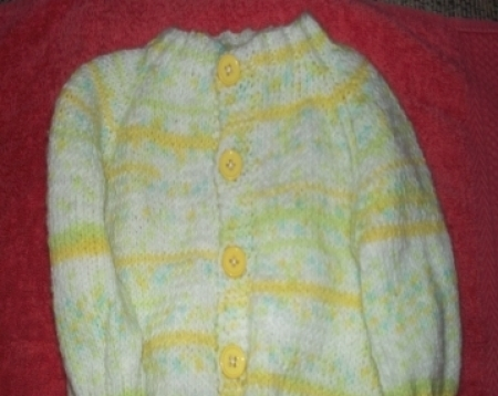 Yellow Knitted Baby Sweater