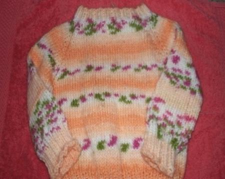 Baby Pullover (orange)