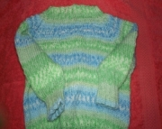 Baby pullover (blue & green)