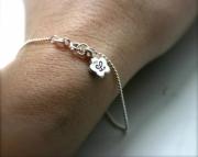 Personalized bracelet - Flower initial bracelet