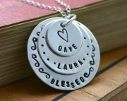 Mothers necklace - Personalized with three charms