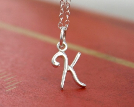 Sterling Silver Custom Initial Necklace  Personalized Necklace