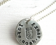 Personalized Jar of Hearts Family Necklace