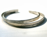 Sterling Silver Brushed Cuff  Sterling Silver Bracelet