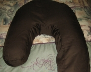 Side Sleeper Pillow Case Dark Brown