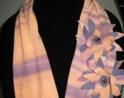 Infinity Scarf with Handmade Flowers