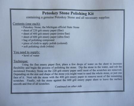 Petoskey Stone Polishing Kit