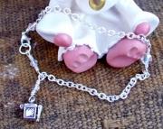Sterling Silver Prayer Box Charm Bracelet
