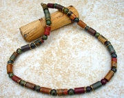 Men's Jasper and Brass Necklace