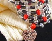 Heart Serenity Coil Charm Bracelet