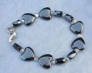 Heart Hematite Bracelet