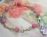 Special Mom Rose Quartz Charm Bracelet
