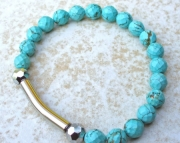Turquoise Bar Stretch Bracelet