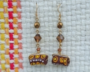 African trade bead earrings