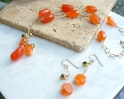 Orange Delight Necklace Earring Set