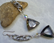 Triangle Glass Crystal Earrings