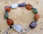 Mystic Crystal Beggar Bead Bracelet