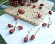 Goldstone Earring Necklace Set