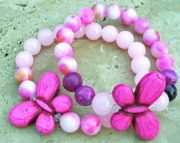 Gemstone Butterfly Stretch Bracelets