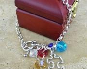 Autism Awareness Sterling Silver Charm Bracelet
