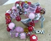 Heart Coil Wrap Bracelet