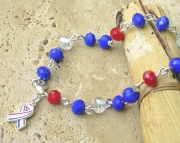 July Fourth Crystal Anklet