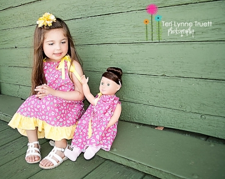Matching Girls & Dolls Dress