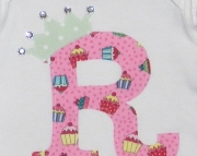 Girls Initial Onesie