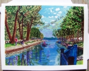 Cadillac Canal Michigan  Note Card