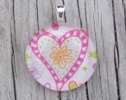 Heart Flower Pendant