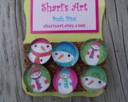 Snowman  Push Pins
