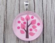 Pink Tree Pendant