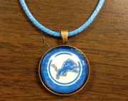 Detroit Lion Glass Pendant