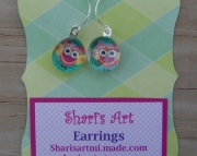 Owl Glass Drop Earrings