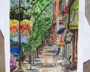 Downtown Cadillac Michigan  Note Card