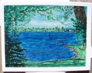 Lake Cadillac, Michigan - Note Card