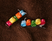 Caterpillar Hair Clips - Set of 2