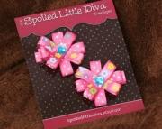 Bright Pink Spring Flower ClippiesFrom SpoiledLittleDiva