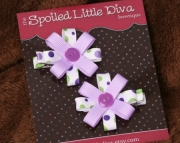 Purple Polka Dot Button Clippies
