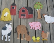 Barnyard Eco Friendly Wood Keepsake Nursery Room Decor Set
