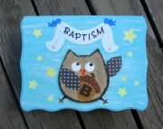 Baby Baptism Christening Gown Keepsake Wood Personalized Gift Box