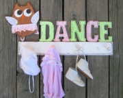 Ballarina Dance Owl Shabby Chic Eco Friendly Personalized Wood Keepsake Clothing Costume Bathroom To