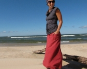 Fall 2011 Hemp Fleece Maxi Skirt