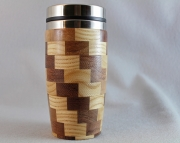 Checkered Travel Mug