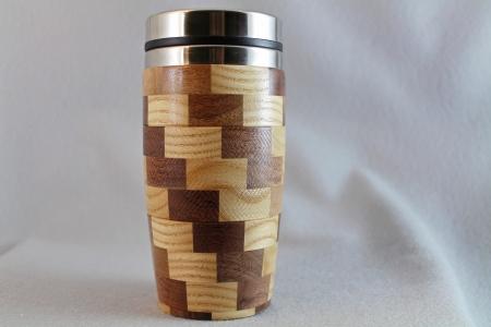 Checkered Travel Mug