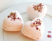 Rose Heart Bath Bombs