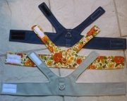 Fabric Dog Harness - Custom Made, D-ring, Velcro Closure