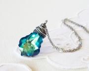 Swarovski Baroque Pendant- Blue