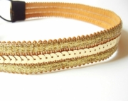 Decorative Gold Sequin Headband