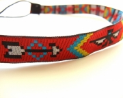 Red Aztec Headband